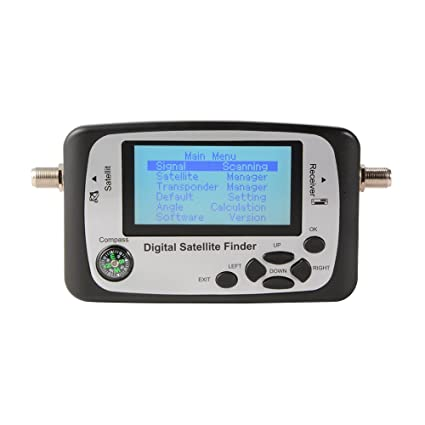 GSF500 Digital Satellite Signal Finder Pantalla LCD Sat Dish Directv Meter con brújula y cable coaxial