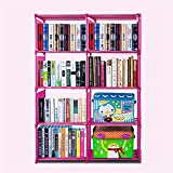 Meoket Bookcase 4 Shelf Bookshelf Adjustable Furniture Storage Shelving Accommodates Books CDs and More
