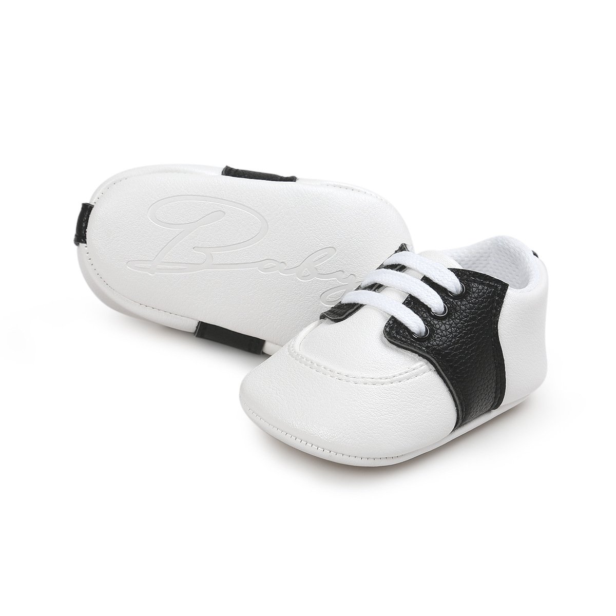 ecb1caa5 Amazon.com | Fire Frog Baby Saddle Shoes for Boys Girl Infant Toddlers  Lace-up Sneakers | Sneakers