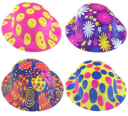 [12pcs Children Party Round Hats Costume-Holiday Cosplay by Pparty Unicolor] (Crazy Christmas Hats)