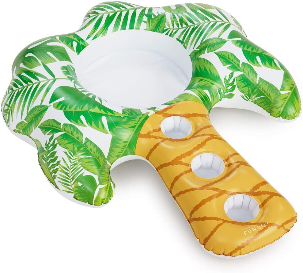 FUNBOY Giant Inflatable Palm Drink Holder, Luxury Floating Bar Accessory for Pool Parties and Entertainment