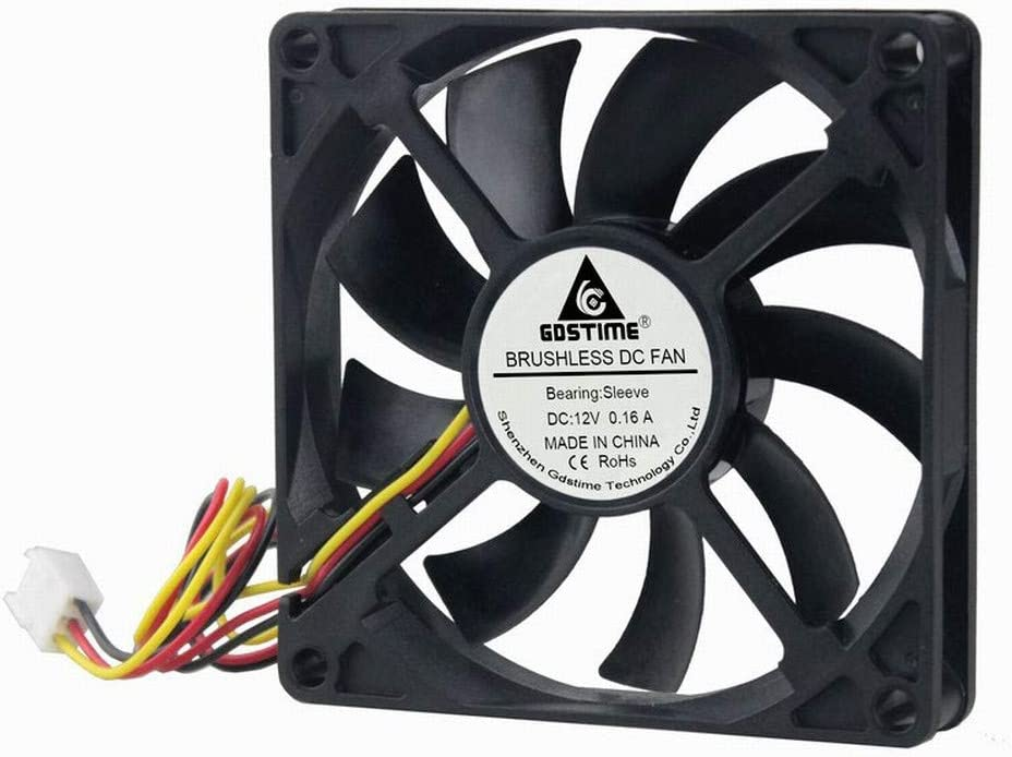 GDSTIME 80mm 12Volt Fans, 80mm x 80mm x 15mm 8015 3PIN DC Brushless Cooling Fan