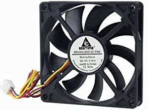 GDSTIME 80mm 12Volt Fans, 80mm x 80mm x 15mm 8015 3PIN DC Brushless Cooling Fan