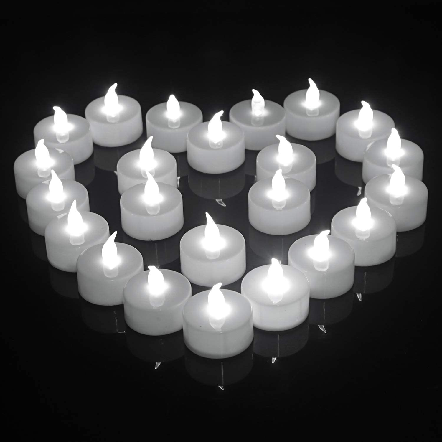 LED Tea Light Candles,Batteries Operated Candle Lights Flickering Flameless Cold White Color for Outdoor Décor Wedding Party Gift Birthday Valentine Christmas Pumkin Diwali 100-pack