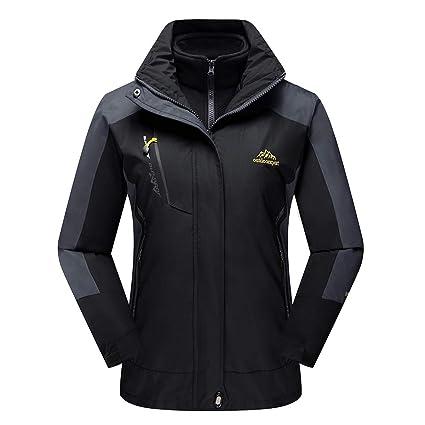 CRYSULLY Women s Winter Waterproof Mountain Jacket Hiking Ski Sport Rain  Jackets Outdoors Black 5f11136e5