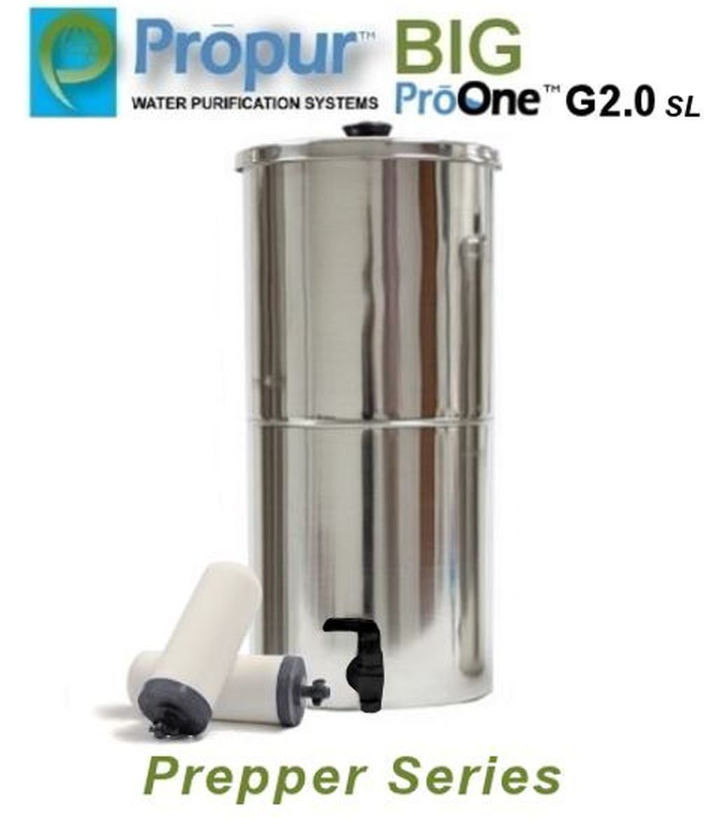 Onermade ProPur BIG Water Filter Prepper Series System + 2 ProOne G2.0 SL 7'' Filters