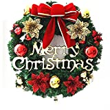Butterfly Christmas Wreath Garland Ornaments Arcades Hotel Christmas Decorations (40-45cm)
