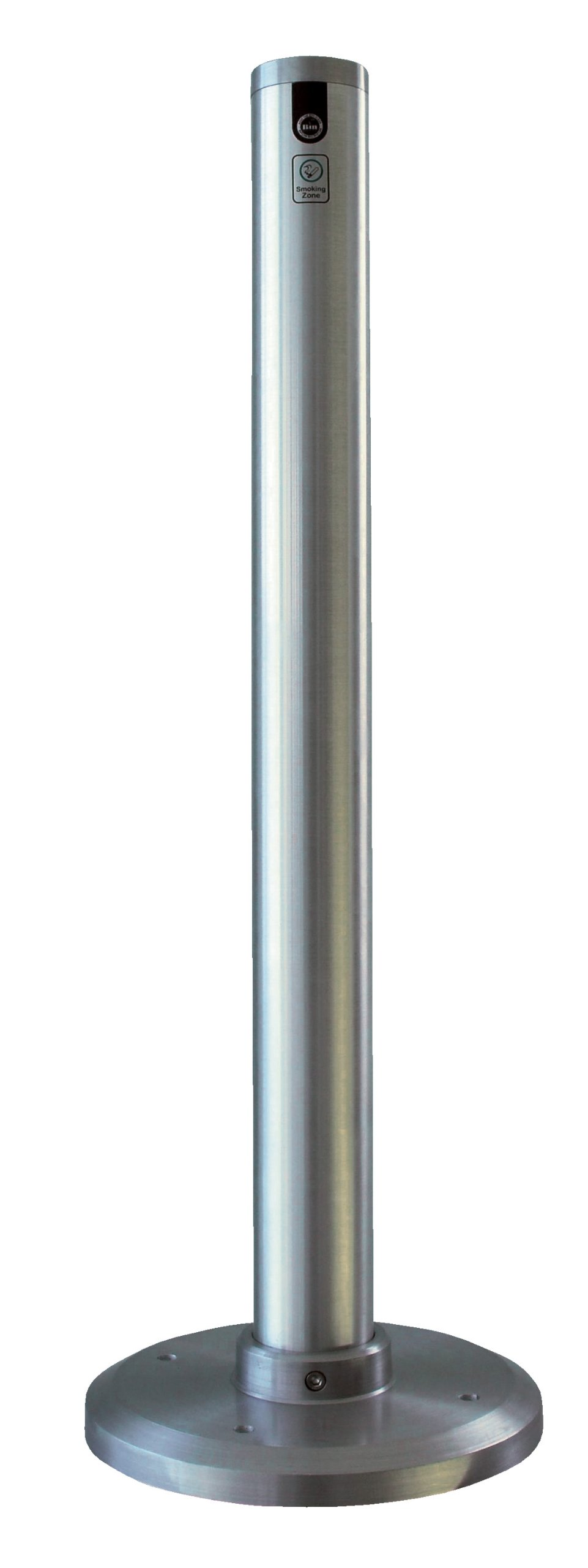 Vestil SMK-F-35A Floor Mounted Aluminum Smoker Bollard, 3-1/4'' OD, 35'' Height