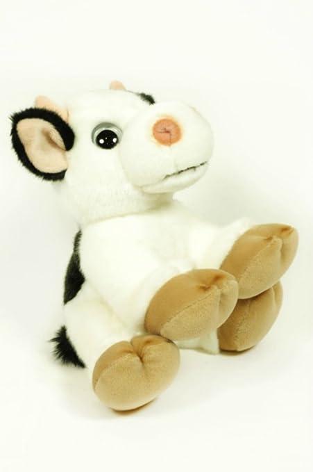 CAPRILO Peluche Decorativo Infantil Vaca Adoptable en Caja. Juguetes Infantiles. Muñecos para Bebés.