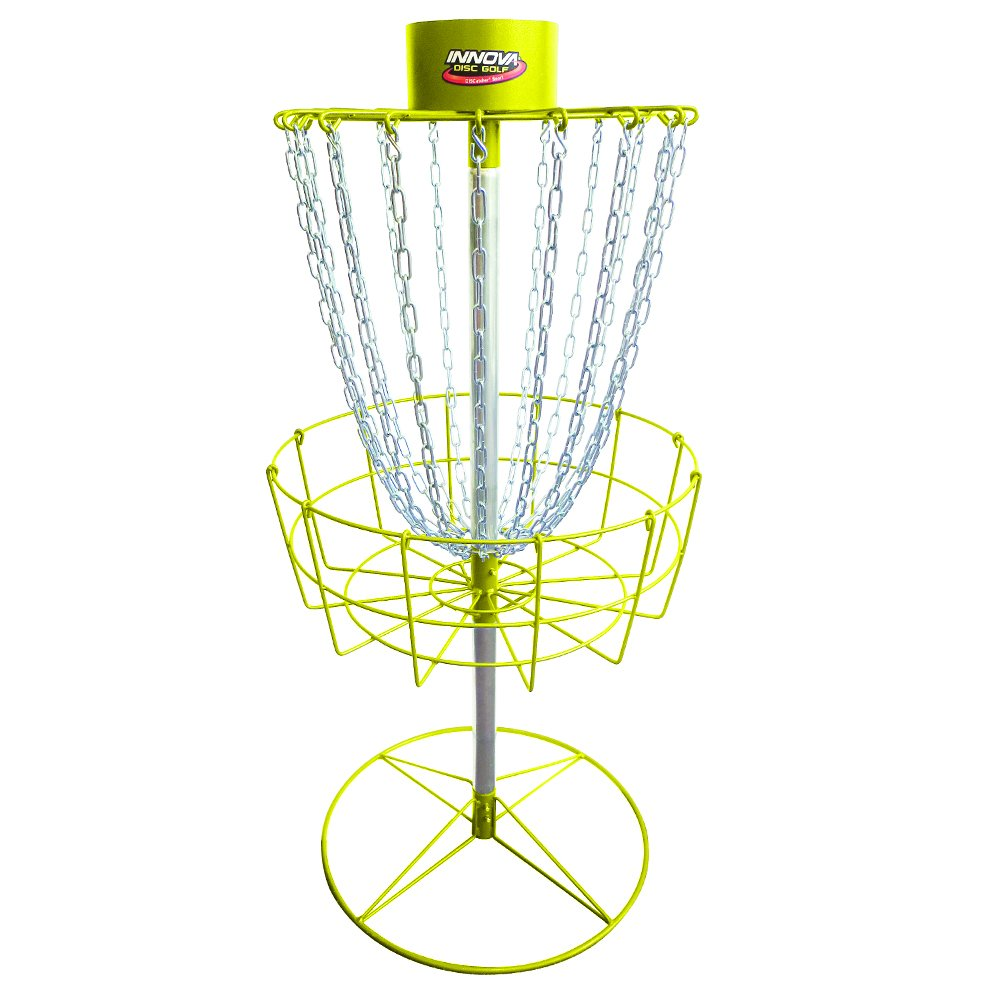 INNOVA Hammer Finish Discatcher Sport 18 Chain Portable Disc Golf Basket - Yellow
