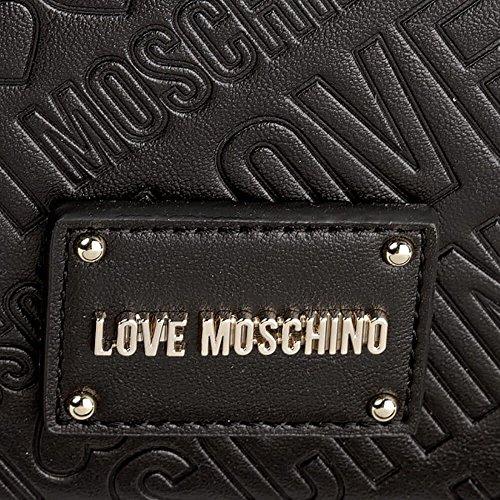 LOVE MOSCHINO BORSA embossed pu NERO JC4026PP15LC0000