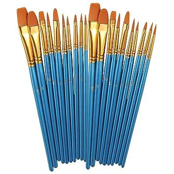 Amazon.com: BOSOBO Juego de pinceles de pintura, 2 unidades ...