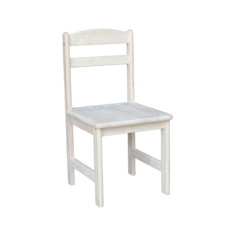 International Concepts Unfinished Juvenile Chair, Set of 2 by International Concepts (Image #2)