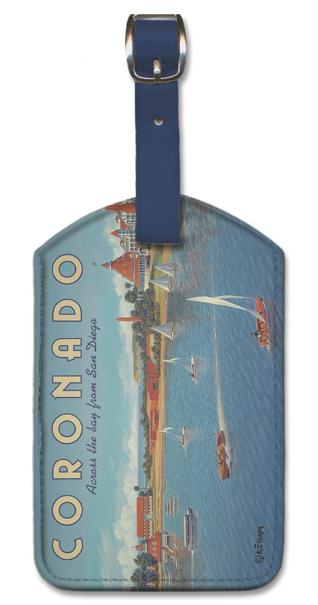 Coronado by Kerne Erickson Pacifica Island Art Leatherette Luggage Baggage Tag