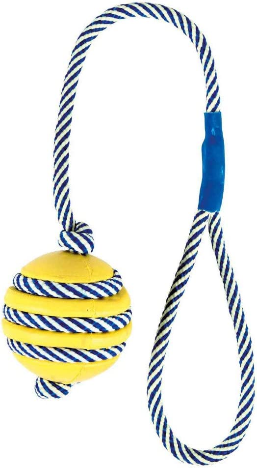 Trixie - Pelota Caucho Cuerda Fluorescente,0.5KG: Amazon.es ...
