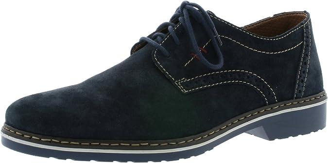 TALLA 43 EU. Rieker 16501-14 Obermaterial Leder, Zapatos de Cordones Derby para Hombre