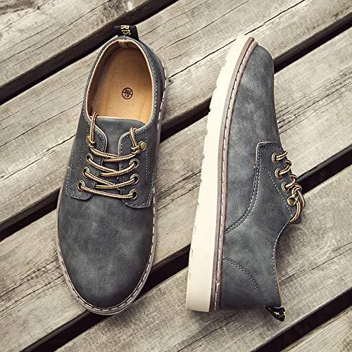 af84db8bcbf LOVDRAM Zapatos Casuales Zapatos Casuales para Hombres Zapatos Casuales  Casuales Casuales para Hombres Zapatos para Hombres Botas para Hombres De  Moda Cuero ...