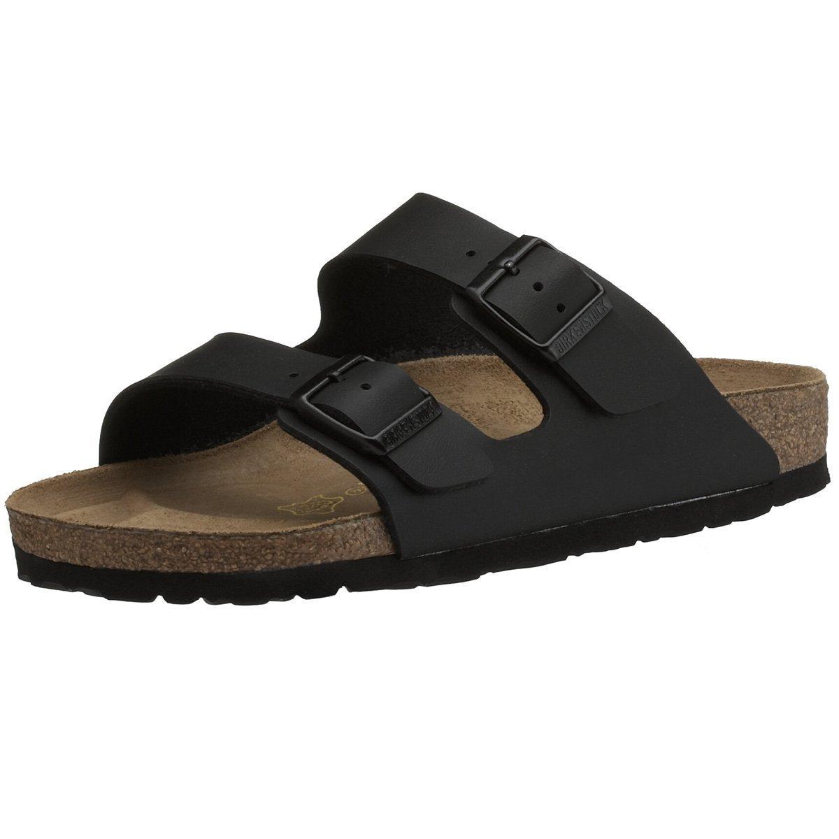 Birkenstock Sandals ''Arizona'' from Leather in Black 40.0 EU W