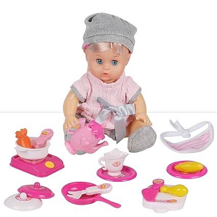Amazon.com: Huang Cheng Toys 18 piezas de juguete de cocina ...