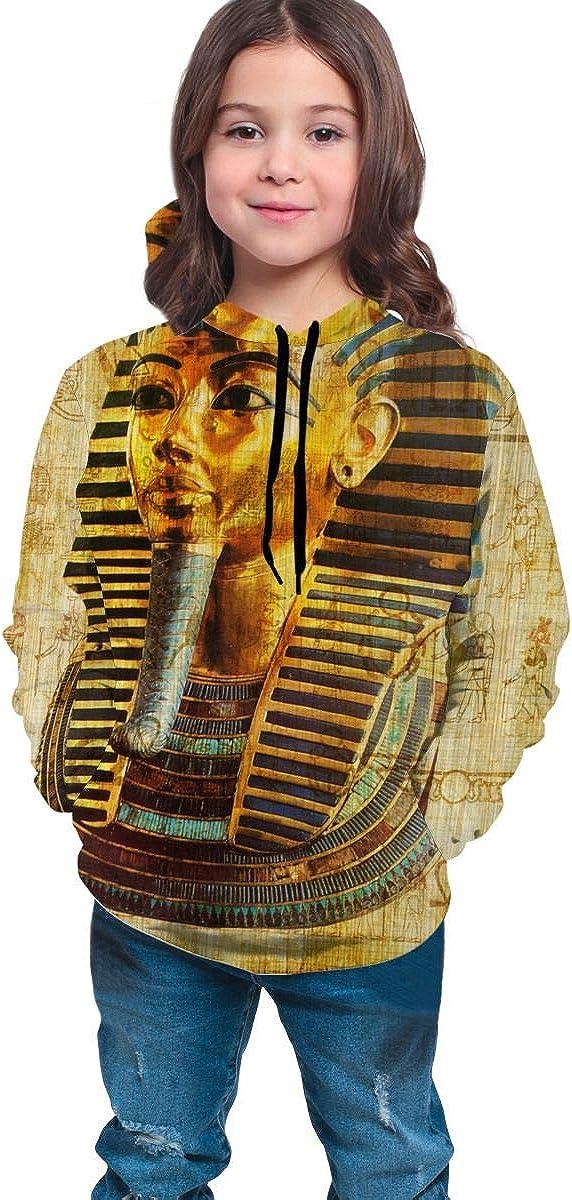 Lichenran Egyptian Pharaoh Men 3D Print Pullover Hoodie Sweatshirt with Front Pocket