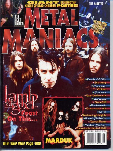 Metal Maniacs Magazine LAMB OF GOD Behemoth CIRCLE - Metal Band Magazine