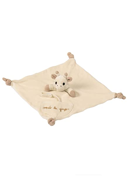 Vulli 220101 So Pure - Mantita de arrullo para bebé con cadena para chupete, diseño Sophie la jirafa