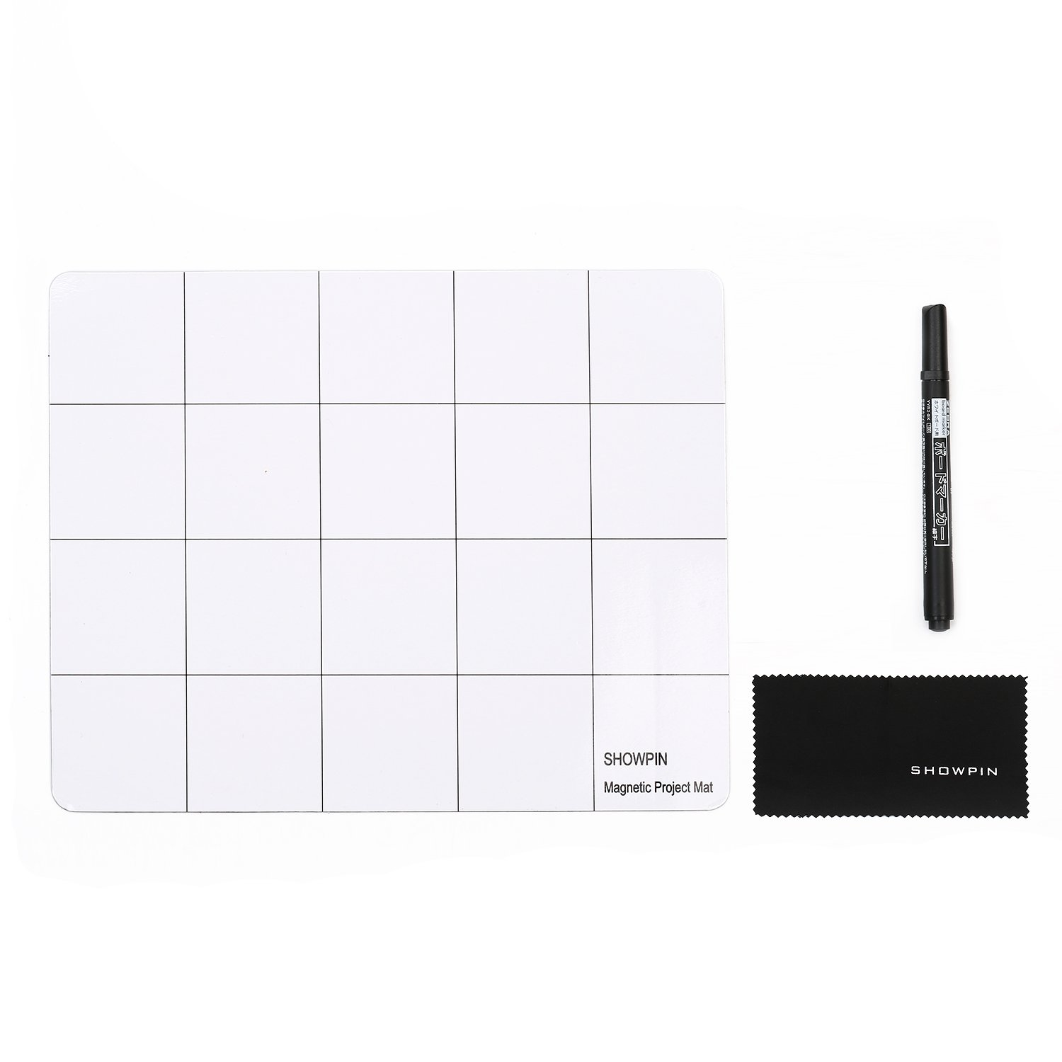 Showpin Magnetic Mat Magnetic Project Mat Prevent Small Electronics Losing Rewritable Work Surface Mat Pad (9.8 x 7.9 inches)