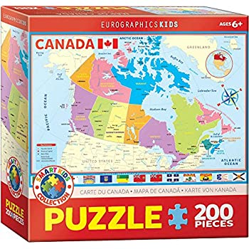 Amazoncom Ravensburger Map of Canada Puzzle 100 Piece Toys Games