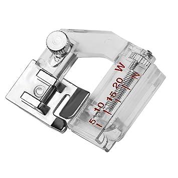 Bias prensatela de cartón de pie prensatelas vinculante ajustable snap-on sesgo Binder - Prensatelas vinculante máquina de coser accesorios de fijación para ...