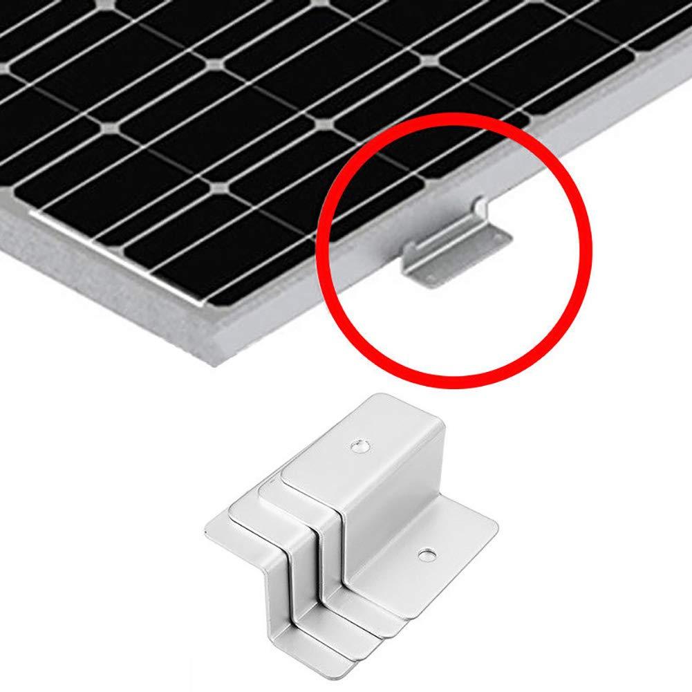4 Pcs Solar Panel Mounting Kit for RV Boat Car Truck Caravan Flat Roof Z-shaped Bracket Aluminum Alloy Solar Panel Mount Accessories