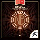 D'Addario NB1356 Nickel Bronze Acoustic Guitar Strings, Medium & NS...