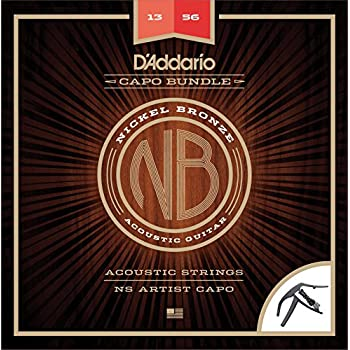 d 39 addario nb1356 nickel bronze acoustic guitar strings medium ns artist capo. Black Bedroom Furniture Sets. Home Design Ideas
