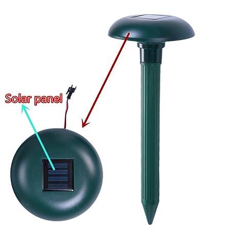 Serpiente Ahuyentador Solar ultrasónico repelente SONIC - Ahuyentador de aves perro dispositivo de control disuasorio repelente al gato perro pájaros de ...