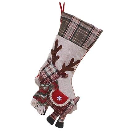Calcetín de Navidad calcetines de Navidad Candy Bolsas de regalo calcetines de regalo de árbol de