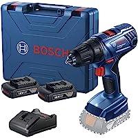 """Parafusadeira Furadeira ½"""" a bateria Bosch GSR 180 LI, 18V com 2 baterias, 1 carregador e maleta"""