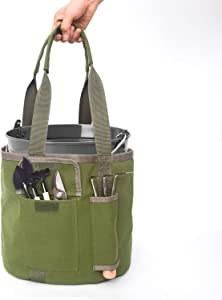 Bucket Garden Tool Organizer, 5.5 Gallon Gardening Tools Bag for Women and Men with Small Pockets Outside