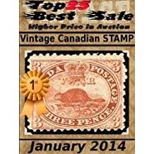 Top25 Best Sale - Higher Price in Auction - Vintage Canadian Stamp - January 2014