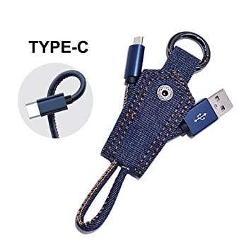 CUHAWUDBA 2.1A Cable de Cargador USB rapido Llavero de ...