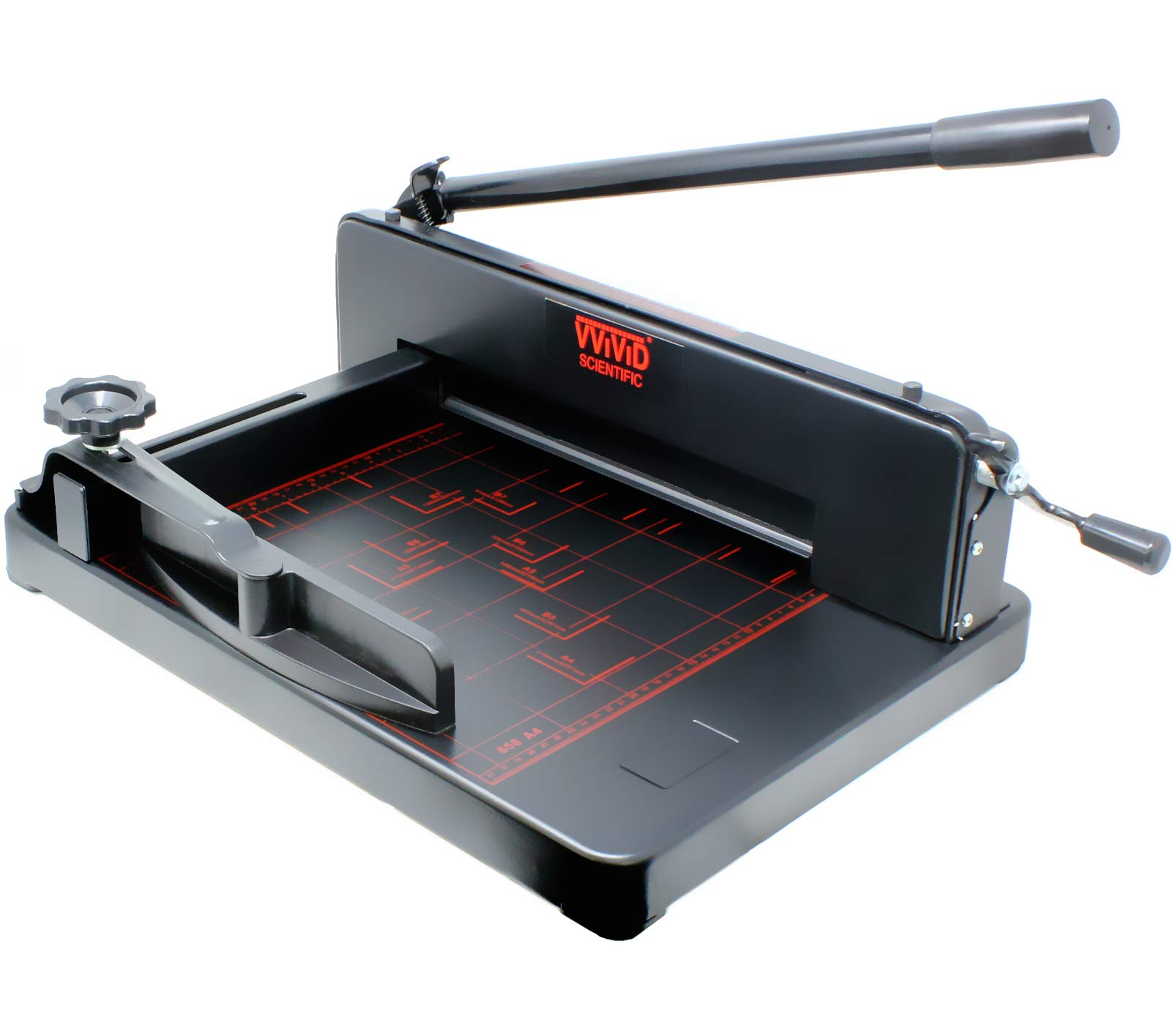 VViViD Heavy-Duty Commercial Grade Industrial Stack 14.5'' Railed Blade Paper Cutter by VViViD