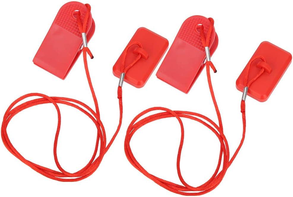Keenso Interruptor de Seguridad para m/áquina de Correr Cerradura magn/ética para Interruptor de Seguridad 2 uds Llave de Seguridad Universal para m/áquina de Cinta de Correr