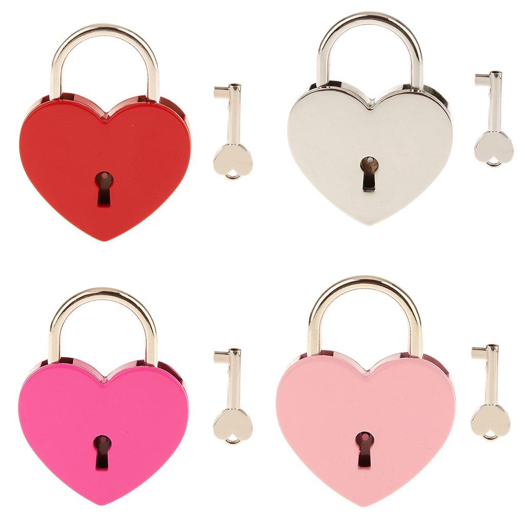 candado corazon en varios colores