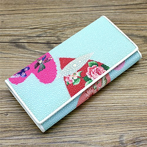 fold Purse Card Lovely Credit Over Blue Party Tri Holder Flap Pink Clutches Wallets Women Long Clutch rabbit Color EqwEIv