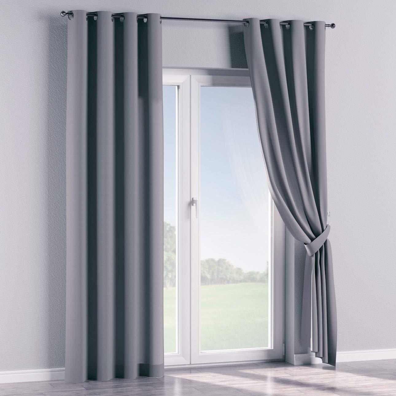 Dekoria Ösenschal Dekoschal Blickdicht 1 Stck. 130 × 260 cm Slade Grey Maßanfertigung möglich