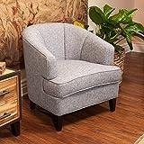 Camden Modern Tub Design Grey Upholstered Accent Chair
