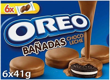 Oreo - Galletas de Cacao Rellenas de Crema Blanco y Cobertura Sabor Chocolate con Leche, 6 bolsas de 2 galletas, 246 g: Amazon.es: Alimentación y bebidas
