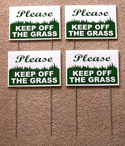 Coroplast Sign - Plastic Sign - Please Keep Off The Grass 4