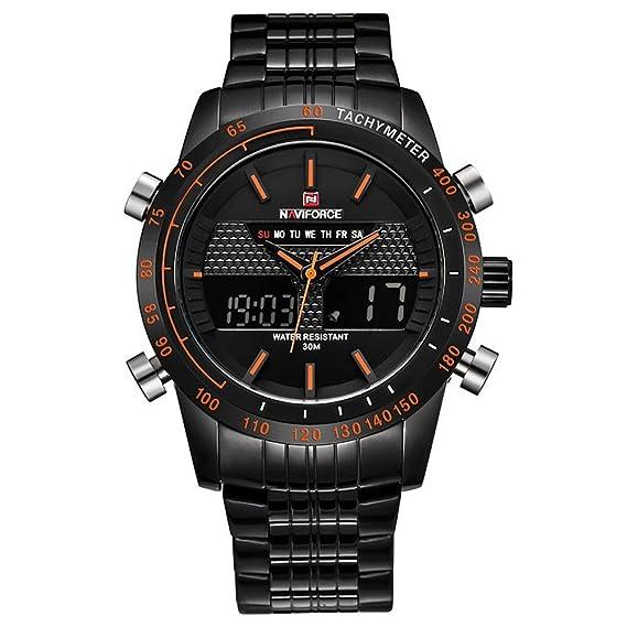 Relojes de los hombres naviforce 9024 marca de lujo Full Militar del Ejército de reloj de