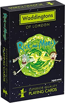 Waddingtons Playing Cards Rick and Morty-Juego de Cartas, Color ...