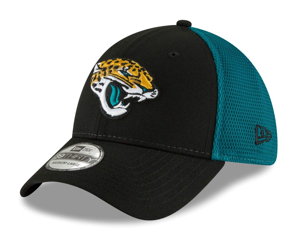 huge selection of c6364 ef243 Amazon.com   New Era Jacksonville Jaguars NFL 39THIRTY 2T Sided Flex Fit  Meshback Hat   Sports   Outdoors