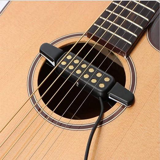 VIDOO 12 Agujero Micrófono Pickup Sonido Amplificador Altavoz para Guitarra Acústica Música Instrumento: Amazon.es: Hogar